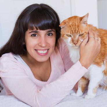 retrato de la fotografa de animales y mascotas Fernanda Fernandez